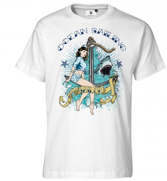 Bedrucktes Sexy Herren T-Shirt Ocean Sailing