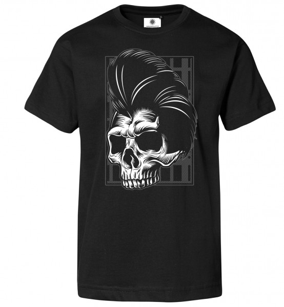 Bedrucktes Herren Rock´n´Roll T-Shirt Rockabilly Skull