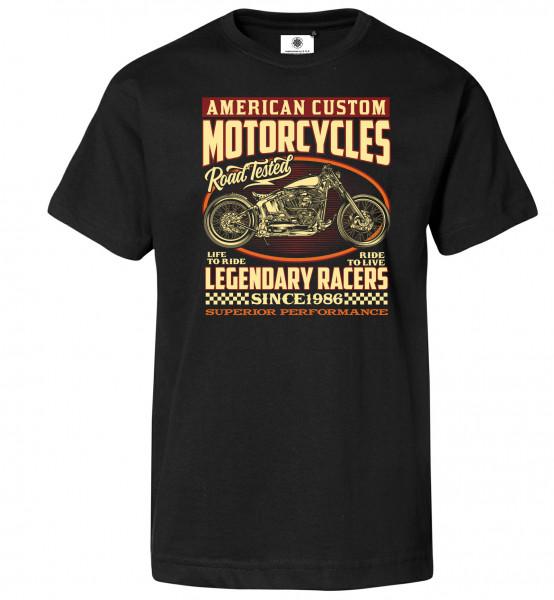 Bedrucktes Herren Retro T-Shirt American Custom Motorcycles