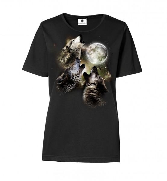 Bedrucktes Damen T-Shirt mit Motiv CryWolves