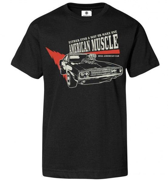 Bedrucktes Herren Big Block T-Shirt American Muscle Car