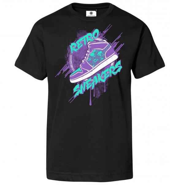 Bedrucktes Herren Streetwear T-Shirt Retro Sneakers