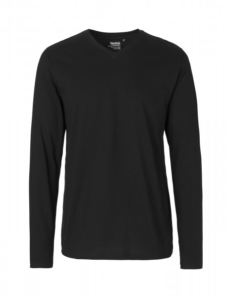 Neutral Mens Longsleeve V-Neck Shirt