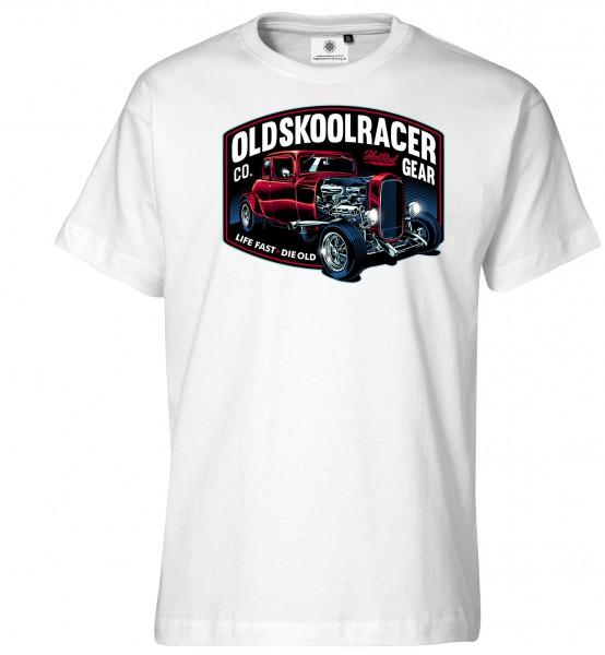 Bedrucktes Herren Hot Rod T-Shirt Oldskool Racer