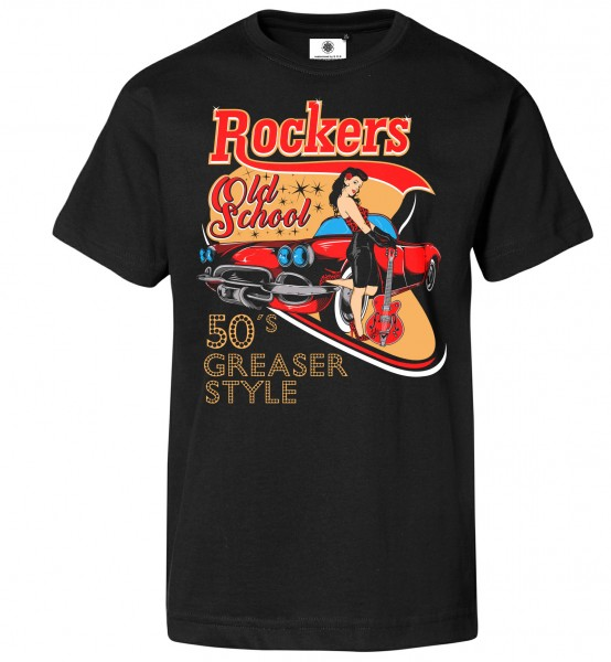 Bedrucktes Herren Old School T-Shirt Rockers