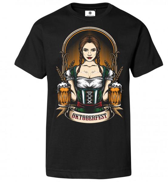 Bedrucktes Herren Oktoberfest T-Shirt Beerlovers