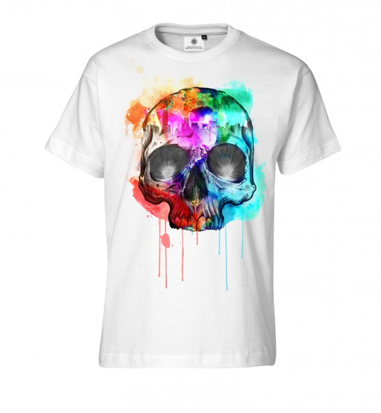 Bedrucktes Herren T-Shirt mit Motiv Colorful Death