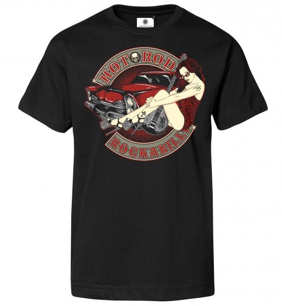 Bedrucktes Herren T-Shirt Hot Rod Rockabilly