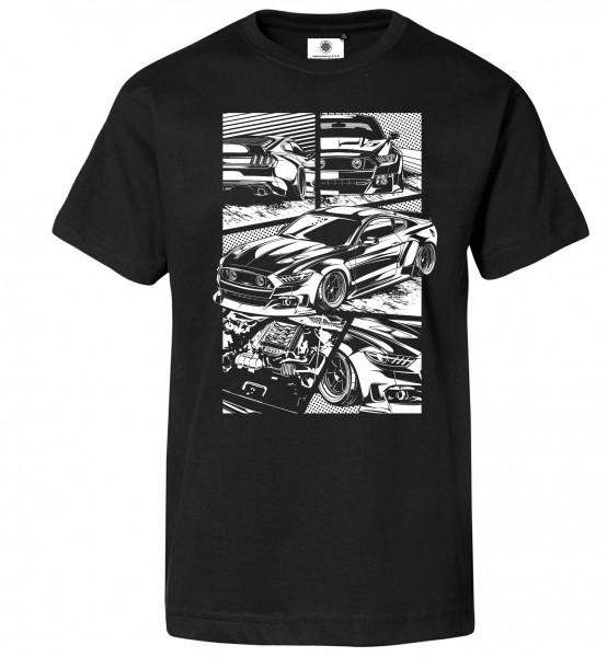 Bedrucktes Herren Muscle Car T-Shirt Mustang S550