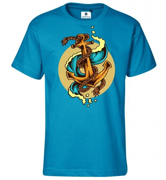 Bedrucktes Herren Tattoo T-Shirt Vintage Anker