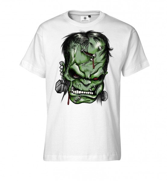 Bedrucktes Herren Grusel T-Shirt Frankensteins Monster