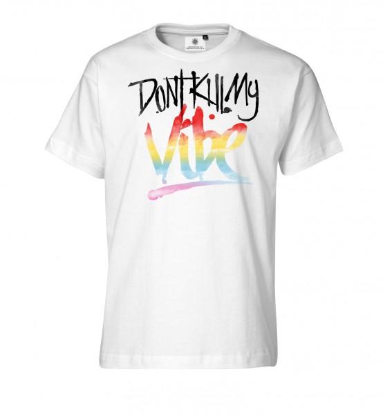 Bedrucktes Herren Streetwear T-Shirt mit Spruch Don´t kill my Vibe