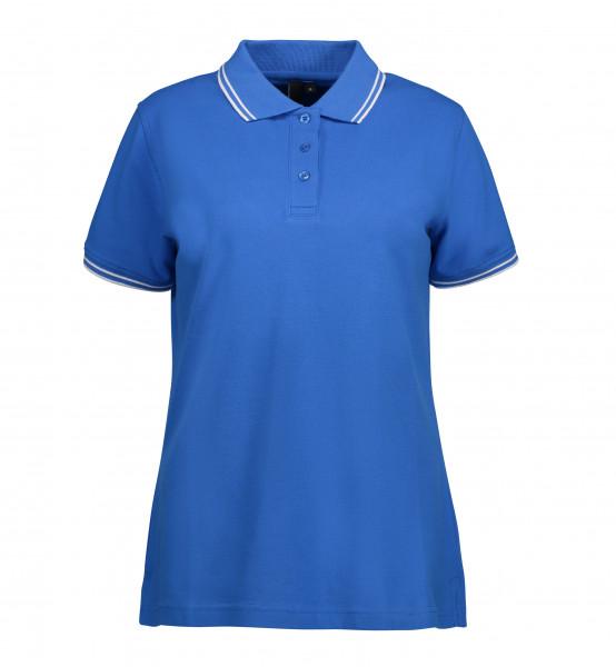 ID 0523 Stretch Poloshirt Kontrast für Damen