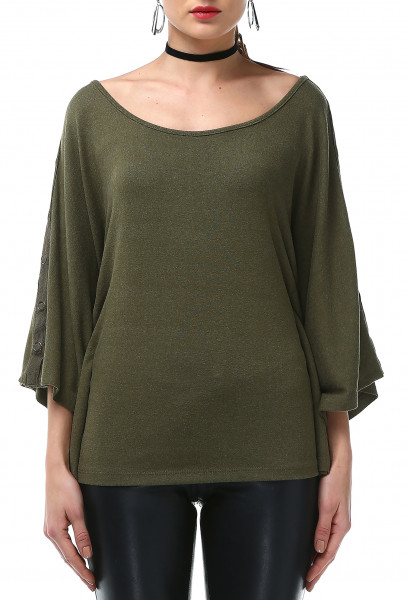 Ladies Rockupy 3/4 Sleeve Batwing Shirt