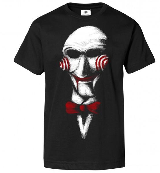 Bedrucktes Herren Saw Horror T-Shirt Let´s Play a Game