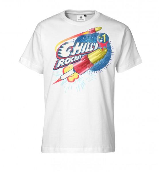 Bedrucktes Herren Streetwear T-Shirt Chillin Rocket