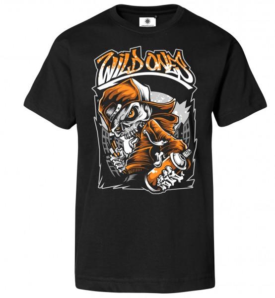 Bedrucktes Herren Graffiti Streetart T-Shirt Wild Ones