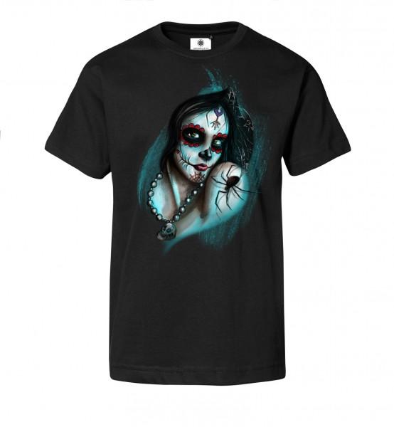Bedrucktes Herren Gothic T-Shirt Dark Mystical Girl