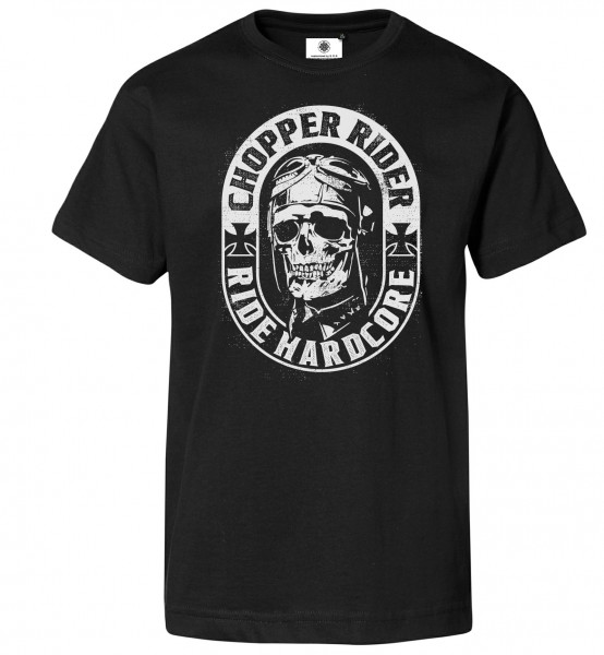 Bedrucktes Herren Biker T-Shirt Chopper Rider