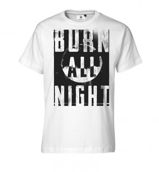 Bedrucktes Herren Streetwear T-Shirt Burn all Night