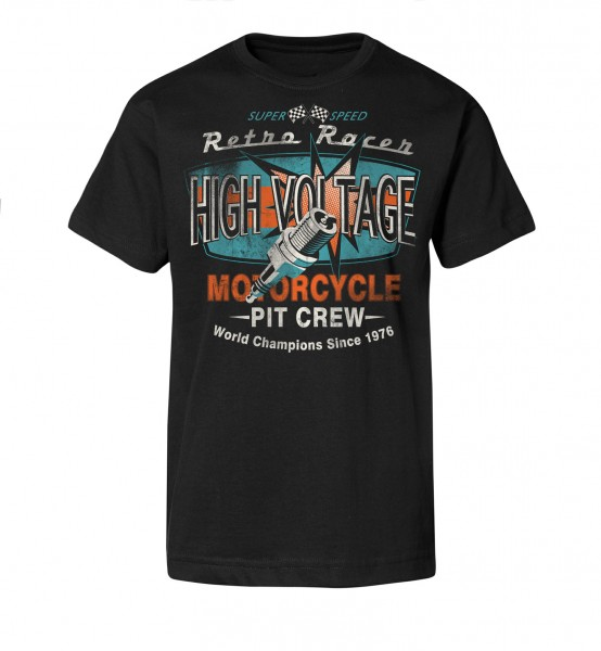 Bedrucktes Herren Racing T-Shirt High Voltage