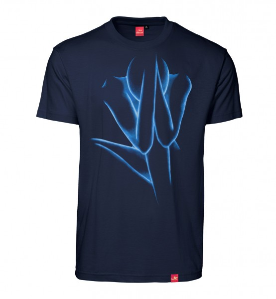 "Herren T-Shirt ""Silent Decision"" (blue/navy)"