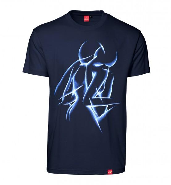 "Herren T-Shirt ""Emotional Dawn"" (blue/navy)"