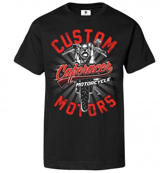 Bedrucktes Herren Custom Motors T-Shirt Caferacer Motorcycle
