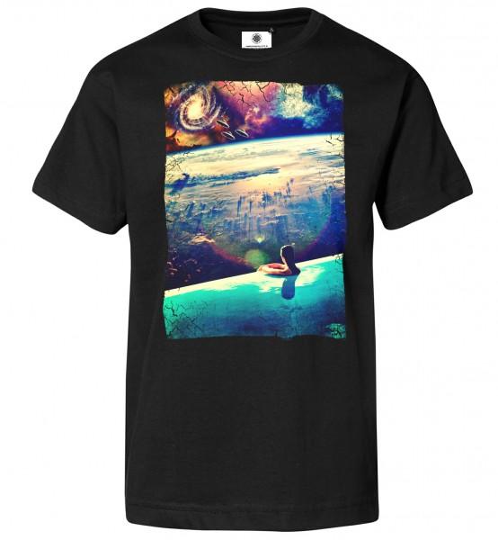 Bedrucktes Herren Psychedelic Ufo T-Shirt Dive