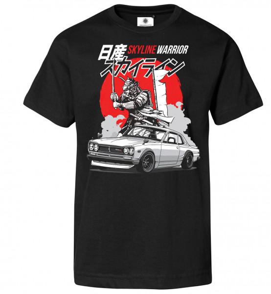 Bedrucktes Herren Samurai T-Shirt Skyline Warrior