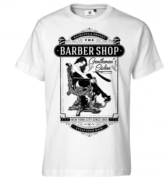 Bedrucktes Herren Old School T-Shirt Gentlemen´s Salon