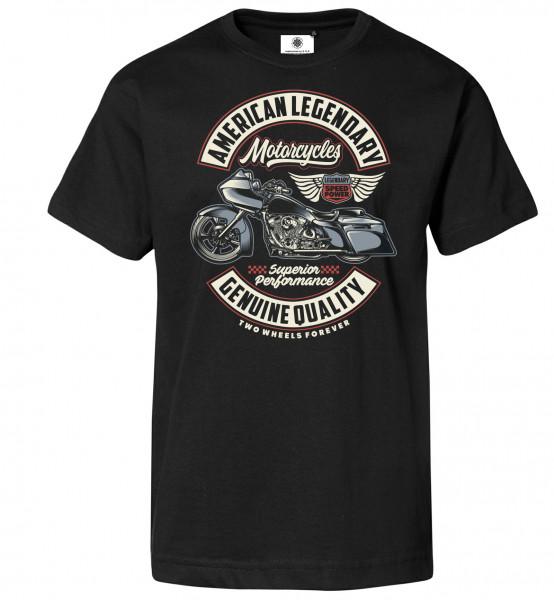 Bedrucktes Herren Biker T-Shirt American Legendary Motorcycles