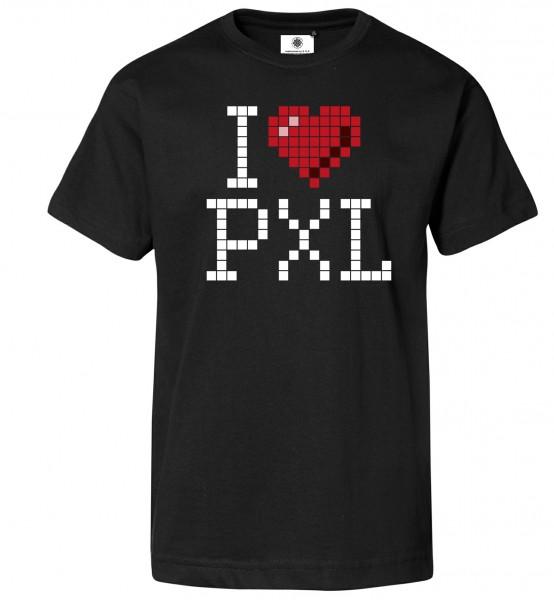 Bedrucktes Herren Gamer T-Shirt I Love Pixel