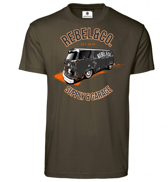Bedrucktes Herren Oldtimer Bus T-Shirt Rebel & Co.
