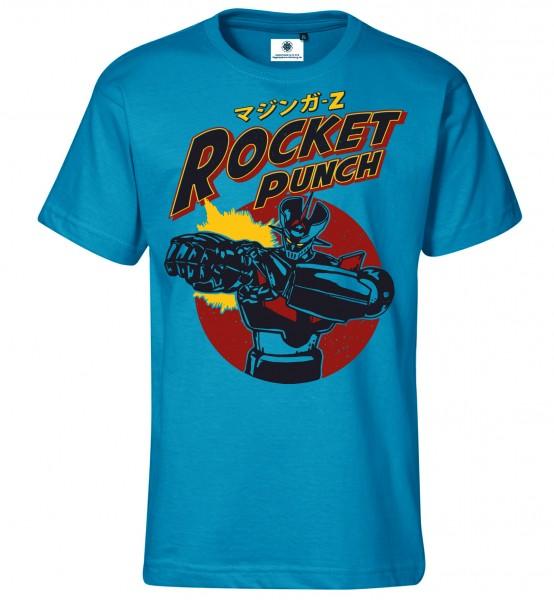 Bedrucktes Herren Manga Retro T-Shirt Rocket Punch