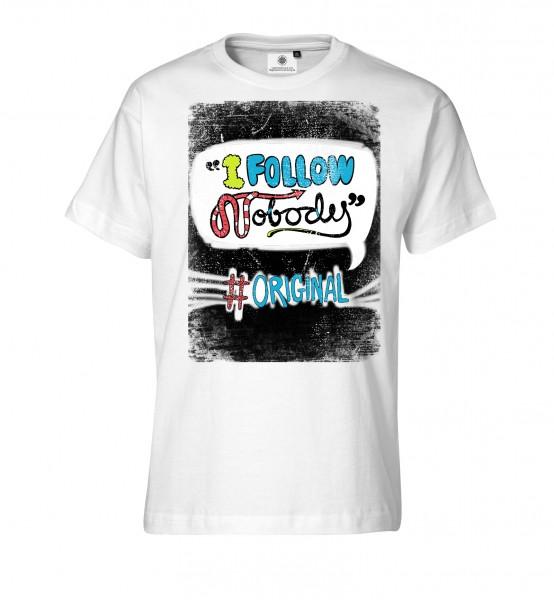 Bedrucktes Herren Streetwear T-Shirt mit Spruch I follow nobody