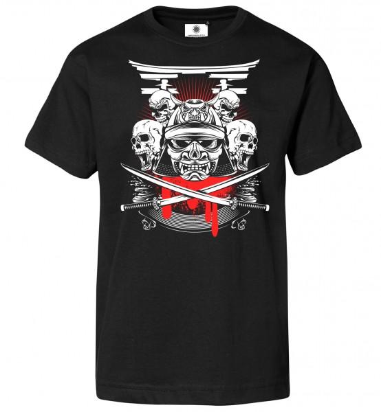 Bedrucktes Herren Catana T-Shirt Samurai Head