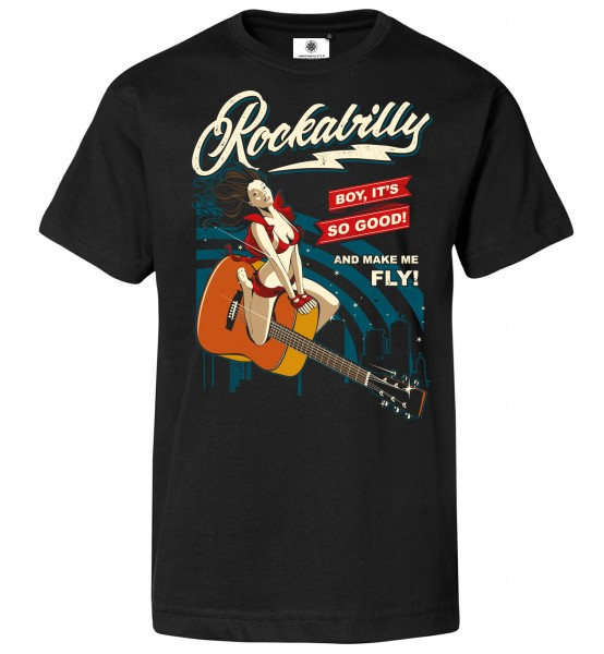 Bedrucktes Herren Vintage T-Shirt Rockabilly PinUp