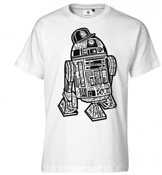 Bedrucktes Herren Streetwear T-Shirt R2D2 Streetart