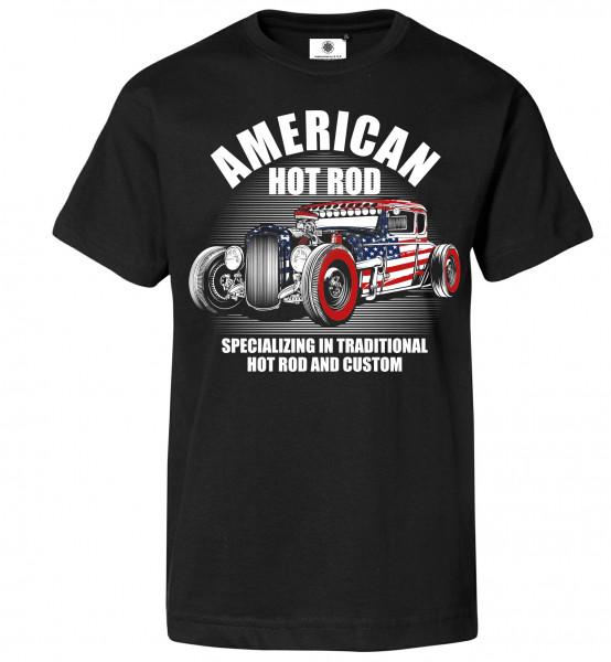 Bedrucktes Herren Racing T-Shirt American Hot Rod