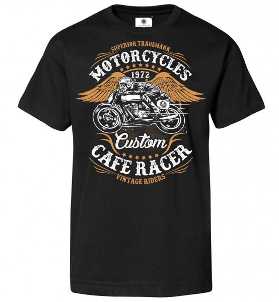 Bedrucktes Herren Biker Motorrad T-Shirt Vintage Riders