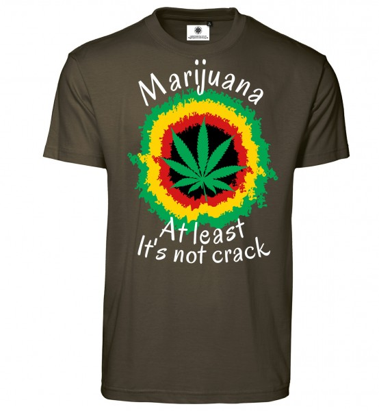 Bedrucktes Herren Ganja T-Shirt Marijuana At least it´s not Crack
