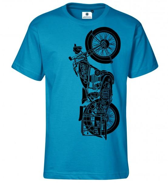 Bedrucktes Herren Motorrad Oldtimer T-Shirt Enjoy the Ride