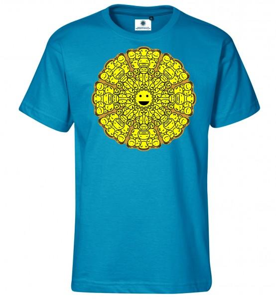 Bedrucktes Herren Streetwear T-Shirt Mandala Emoji
