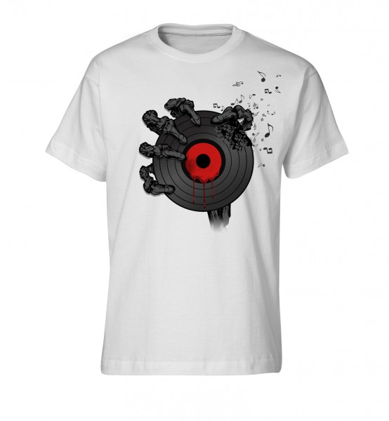 Bedrucktes Herren Streetwear T-Shirt Dead Vinyl