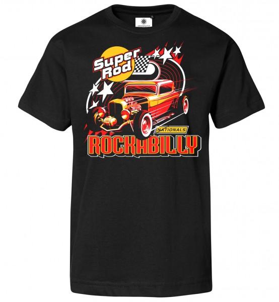 Bedrucktes Herren Super Hot Rod T-Shirt Rockabilly