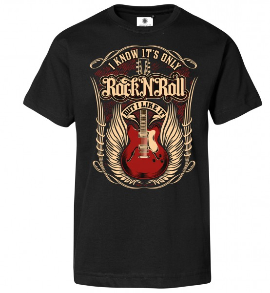 Bedrucktes Herren Hardrock T-Shirt It´s only Rock´n´Roll but I like it