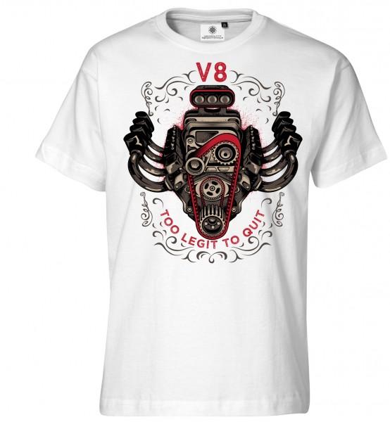 Bedrucktes Herren Big Block Tuning Racing T-Shirt V8
