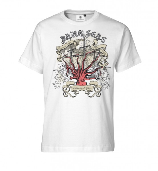Bedrucktes Herren Streetwear T-Shirt Dark Seas
