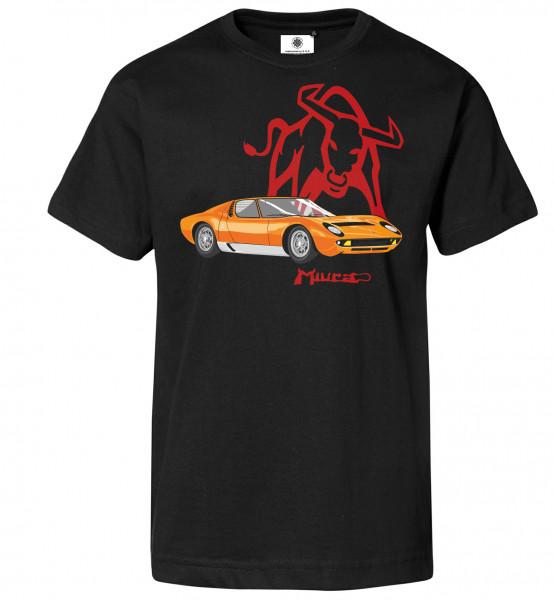 Bedrucktes Herren Lamborghini T-Shirt Miura